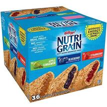 Nutri-Grain Kellogg's Cereal Bars Variety Pack, 36 Count - $29.01
