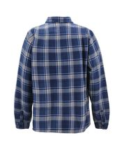 Men's Casual Flannel Button Up Plaid Fleece Warm Sherpa Lined Lightweight Jacket image 7