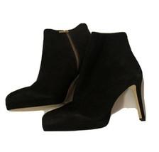 Michael Kors Ankle Bootie Shoes Black Suede & Leather Sz 9M New - $46.75