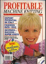 Profitable Machine Knitting Apr 1992 Magazine UK Patterns Articles to Ma... - $5.99