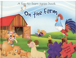 On the Farm Jigsaw Puzzle Book with Five 24 Piece Puzzles New - $6.88