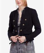 Free People Jagger Double-Breasted Cotton Blazer Jacket - $82.49