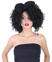 Adult Women Black Afro Small Bow Wig HW-879 - $23.85