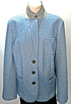 TALBOTS Women's Blue Wool Blazer, Pocket's and Button Closure - Size 16 - $22.43