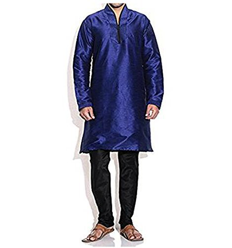 Primary image for Royal Kurta Men's Silk Blend Kurta Pyjama Set X-Large Blue