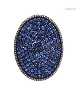 8.3Ct Blue Sapphire Gemstone Diamond Studded 925 Sterling Silver Vintage... - $755.73