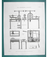 PORTSMOUTH Machinery for Making Ship Pulleys - 1820 ABRAHAM REES Print N... - $9.57