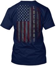 Lockhart Family American Flag Hanes Tagless Tee T-Shirt - £17.45 GBP