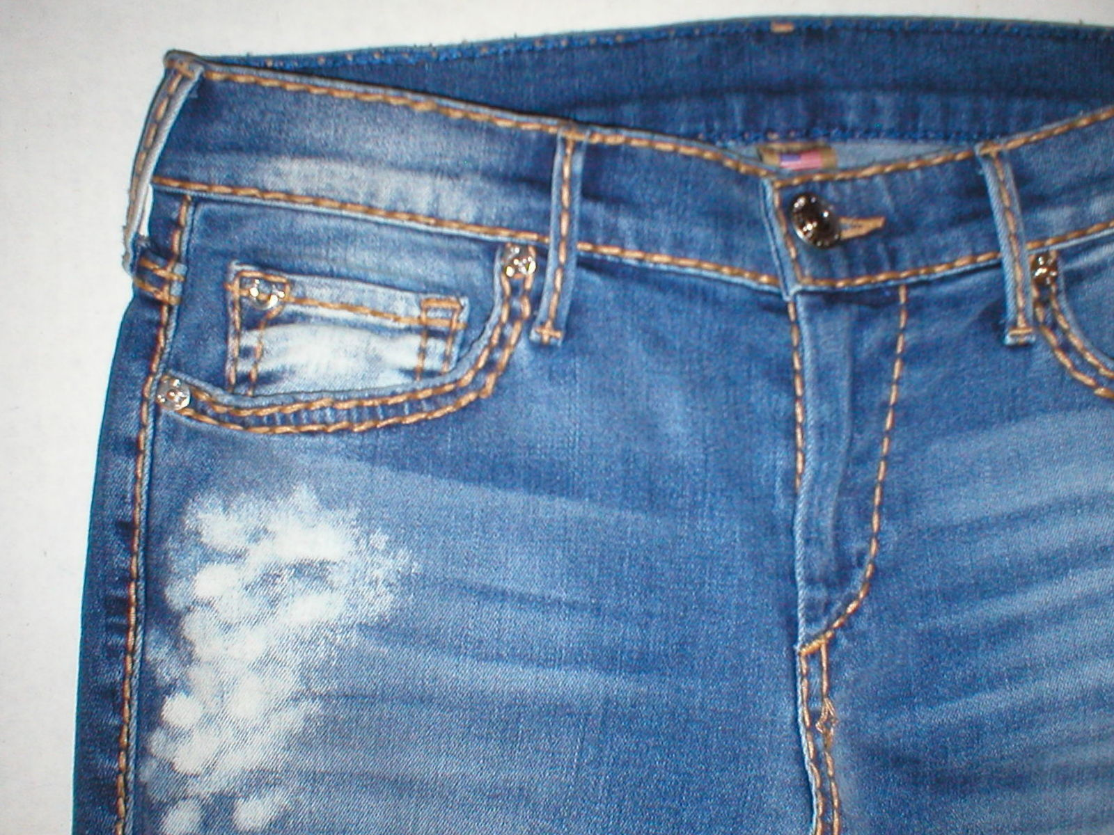 New Womens True Religion Brand Jeans Cora Super T Crock Blue Tide 28 NWT USA image 5