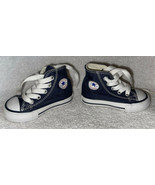 Baby Toddler Size 3 Converse All Star Blue High Top Sneakers Shoes Unused - $18.99