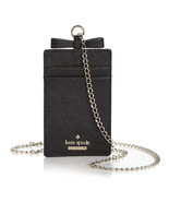 Kate Spade CAMERON STREET LANYARD Bow Card Case Leather Chain necklace ~... - $57.42