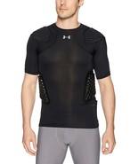UNDER ARMOUR New Protective UA 4 Pad Black Football Top Shirt New Mens S... - $61.22