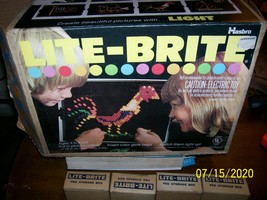 Vintage 1973 Hasbro Lite-Brite complete hardly Used Set Boxed - $35.00