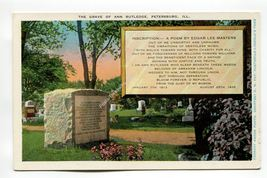 Grave of Ann Rutledge Petersburg Illinois - $0.79