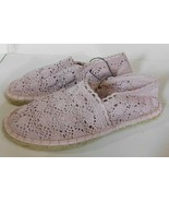 Soda Crochet Espadrille Pink Shoes Size 6 Brand New - $25.00