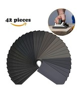 Sandpaper, 42 Pcs 120 to 3000 Grit Wet and Dry Waterproof Sandpaper Asso... - $8.65