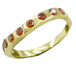 sublime Ruby CZ Gold Plated Red Ring jaipur US 6,7,8,9 - €8,45 EUR