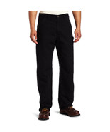Carhartt Men's Washed Duck Dungaree Flannel Lined Work Pant, Black, 38W ... - $87.12