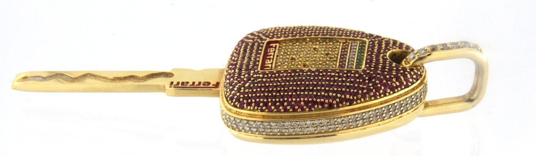 Custom ferrari Unisex 14kt Yellow Gold Charm