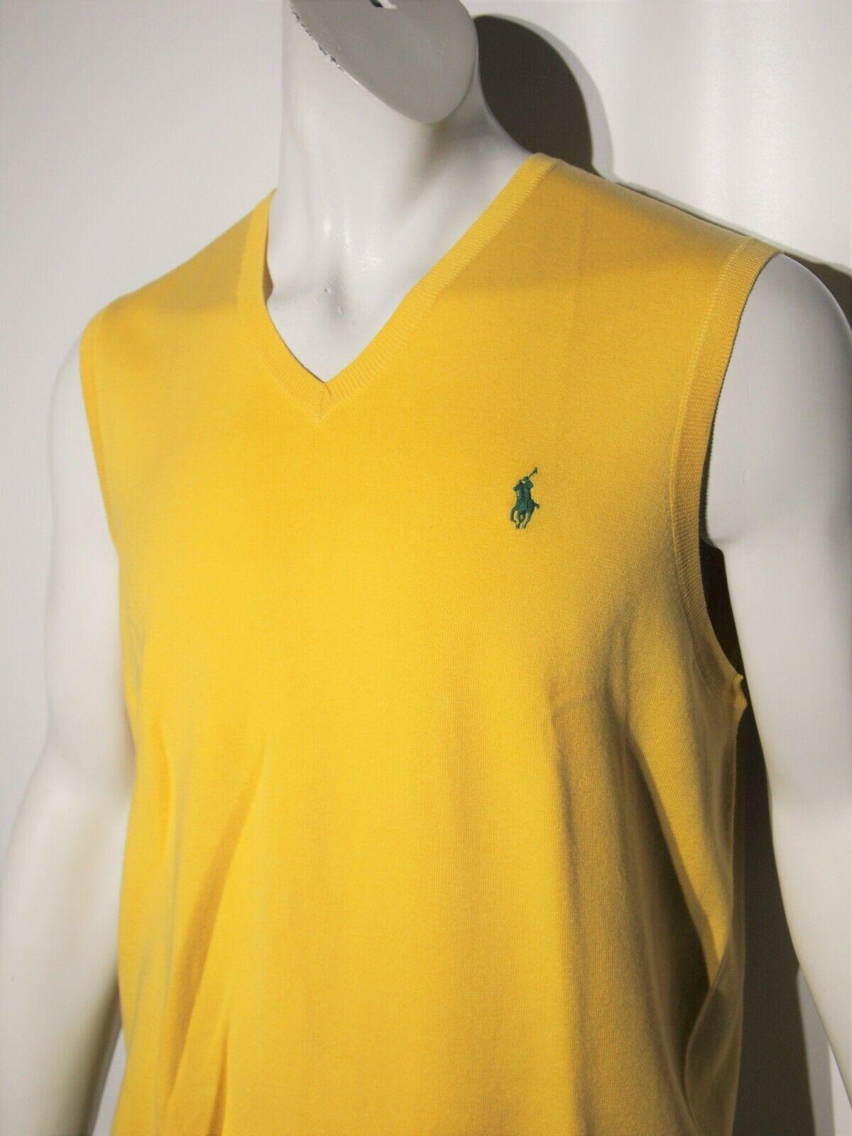 Polo Ralph Lauren men's pima cotton sweater vest size xl  slim fit image 3