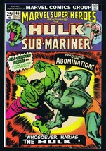 Marvel Super Heroes #46 ORIGINAL Vintage 1974 Comic Book Hulk Abomination - $9.49