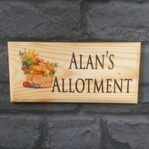 Personalised Allotment Sign, Grandad Vegetable Garden Shed Plot Gift Fat... - $12.46
