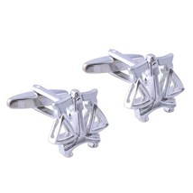 silver scales of justice 3d effect design Cufflinks in gift box cuff links