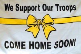 NEW SUPPORT OUR TROOPS FLAG military troop FL250 sign armed forces banne... - $6.31