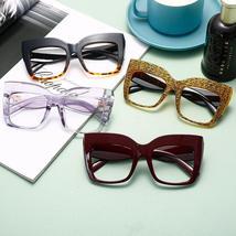 2021 Anti-blue Big Glasses Frames Optical Women Sunglasses Retro Oversized Eyegl image 6