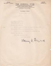 U.S. SENATOR from VIRGINIA HARRY BYRD 1930 TYPED NOTE SIGNED - $24.75