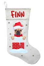French Bulldog Christmas Stocking - Personalized French Bulldog Stocking... - $29.99