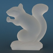 Vintage Smith Glass Miniature Crystal Satin Squirrel image 2