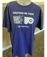 Adult XL PHILADELPHIA FLYERS Together We Fight Hockey Fights Cancer -Ral... - $19.99