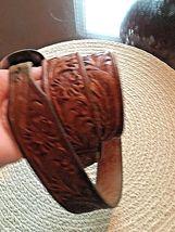 BOHLIN MADE BELT RANGER PLATA DE JALISCO STERLING SILVER BUCKLE Leather Western image 5