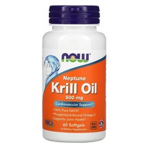 Now Foods, Neptune Krill Oil, 500 mg, 60 Softgels - $36.53