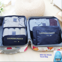 6Pcs Travel Storage Bag Set for Clothes Luggage Packing Cube Organizer S... - £6.08 GBP