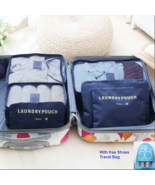 6Pcs Travel Storage Bag Set for Clothes Luggage Packing Cube Organizer S... - $7.27+