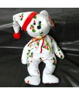 TY Christmas Beanie Babies 1998 Holiday Teddy Holly Hang Tag with Tag Pr... - $12.86