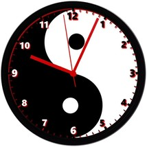 "Yin Yang, EXCLUSIVE! 8"" Homemade Wall Clock w/ Battery, FREE SHIPPING - $23.97"