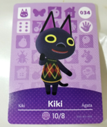034 - Kiki - Series 1 Animal Crossing Villager Amiibo Card - $19.99