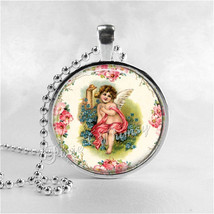 CHERUB Pendant Necklace, Valentine's Day Jewelry, Cupid Necklace, Vintag... - $11.95