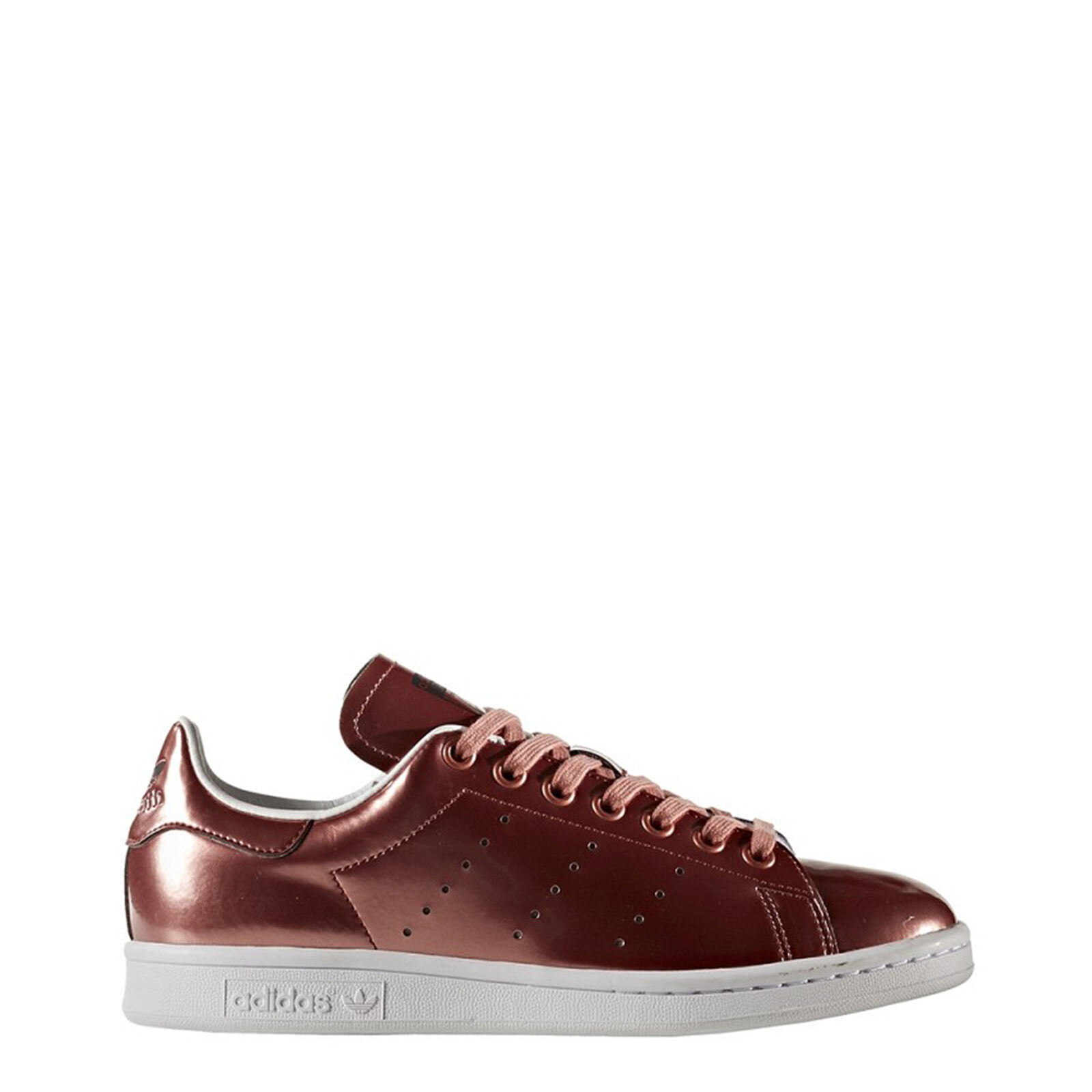 Adidas TurnSchuhe StanSmith, Unisex/Damen Weiß/Rot Leder low-Top Sneakers