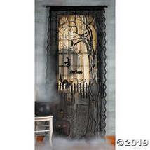 Spooky Lighted Lace Curtain Panel Halloween Holiday & Seasonal fall Decor - $24.99