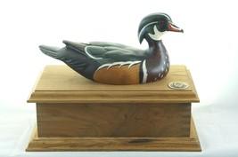 Ducks Unlimited Wooden Box Wood Duck Decoy - $67.24