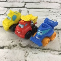 Tonka Lil Chuck And Friends Cars Lot Of 3 Soft Plastic Rolling Toddler Toys - $14.84