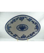 Sterling China For York Kitchen Blue And White Floral Oval Footed Servin... - $12.59