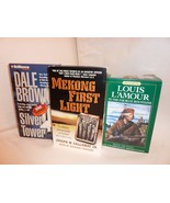 Books on Audio Cassette Silver Tower, Mekong First Light, To The Blue Mo... - $16.05