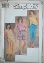 UNCUT Simplicity Pattern Top Skirt Pants Shorts 6 8 10 Vintage SEWING - $4.84