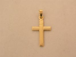 cross yellow gold 19kts simple classic  - $108.80