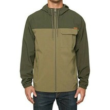 Voyager Mens Full Zip Windbreaker Jacket Hoody NEW Green Size Medium - $24.70